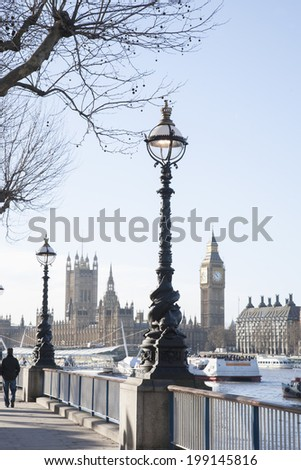 Big Ben and the Houses of Parliament, Westminster, London, England, UK - stock photo