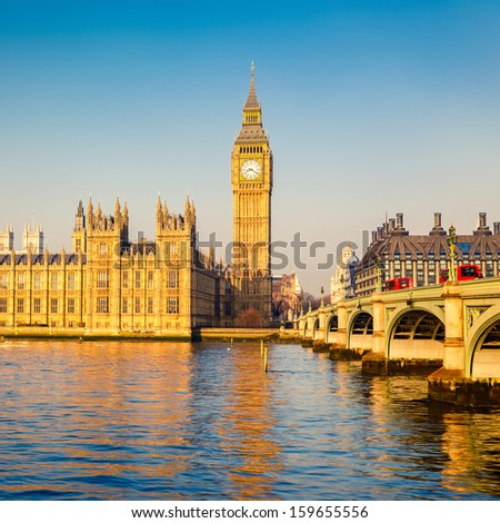 Big Ben at morning, London - stock photo