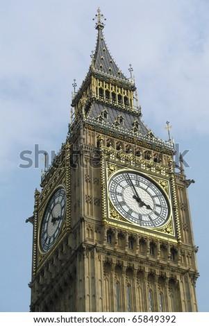 Big Ben faces - stock photo