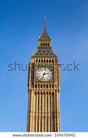 Big Ben in daylight, London, England, UK  - stock photo