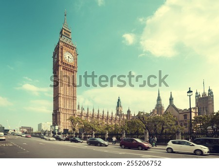 Big Ben in London, United Kingdom - stock photo