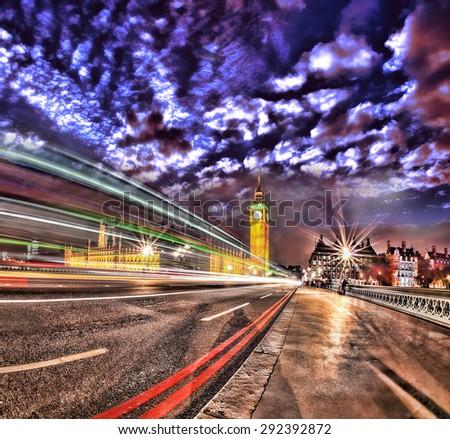 Big Ben in the evening, London, England, UK - stock photo