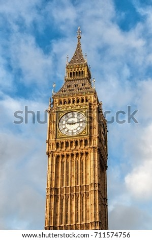 Big Ben is the nickname for the Great Bell of the clock at the north end of the Palace of Westminster in London