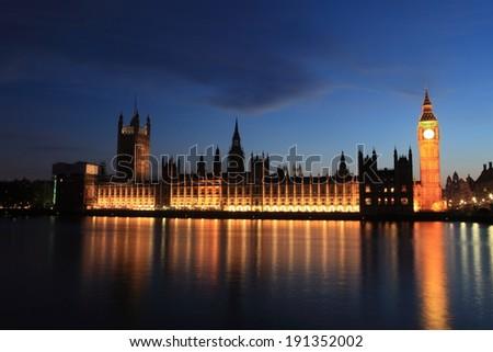 Big Ben of London - stock photo