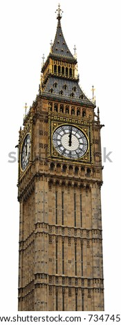 Big Ben Panorama (HighRes) - Palace of Westminster, London - stock photo