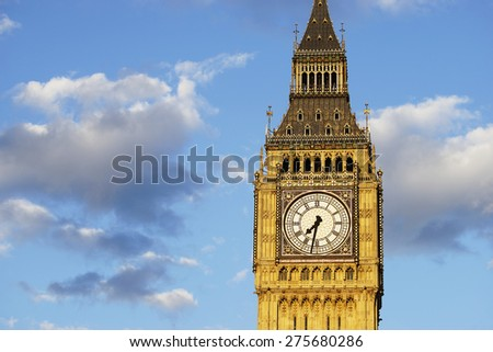 Big Ben seen from Parliament Square