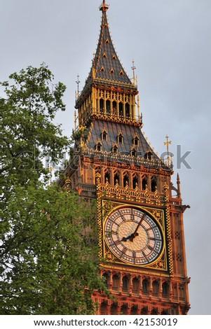 Big Ben tower in London - stock photo