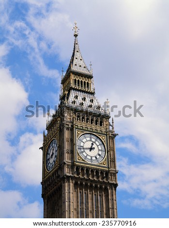 Big Ben tower in London, England - stock photo