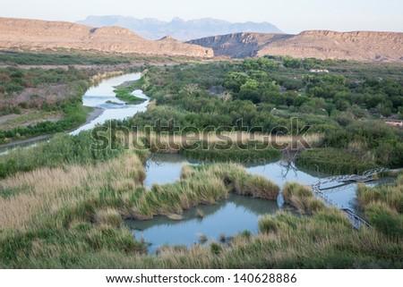 Big Bend National Park,  Rio Grande River - stock photo