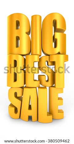 Big best sale 3d text isolated over white background - stock photo