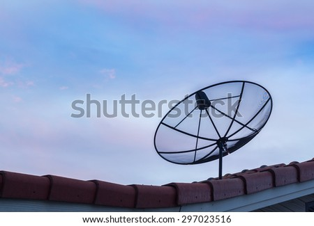 Big Black Satellite Dish on the roof