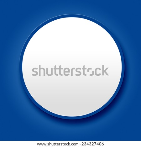 Big blank white button on blue background - stock photo