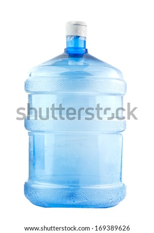 Big bottle of water isolated on a white background  - stock photo