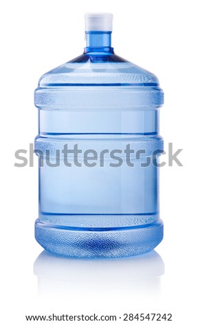 Big bottle of water isolated on white background - stock photo