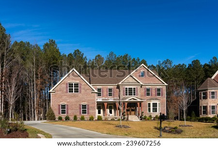 Big brick house - stock photo