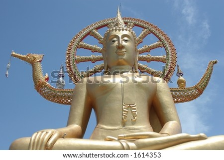 Big Buddha, Ko Samui - also available in landscape - stock photo