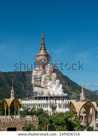 Big Buddha under construction at temple in Thailand