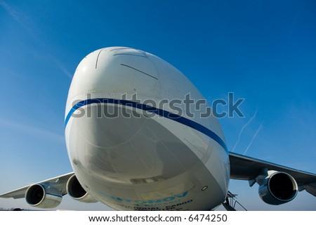 Big cargo aircraft - stock photo