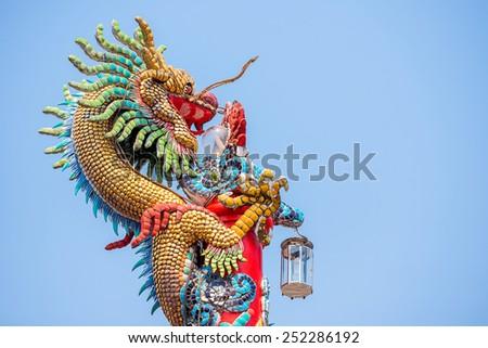 Big Chinese Dragon - stock photo