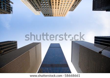big city skyline - stock photo