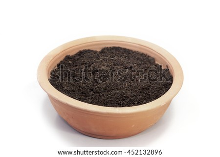 Earthworm castings stock photos royalty free images for Clay potting soil