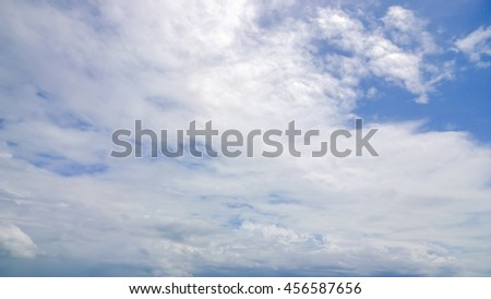 big cloud on sky - stock photo