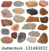 Big Collection Rocks isolated on white background - stock