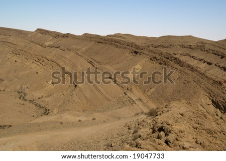 Big crater cliff, Negev desert, Israel