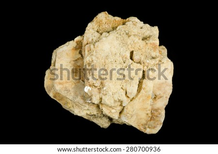 Big crystal of K-feldspar from pegmatite - stock photo