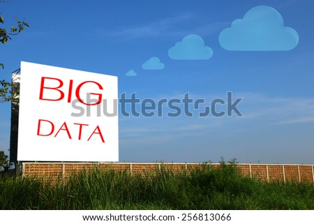 big data - stock photo