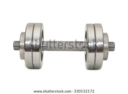 Big dumbbell on a white background