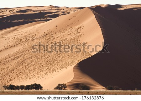 Big dune in Namibia - stock photo