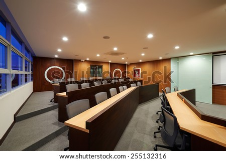 Big empty auditorium / Conference room - stock photo