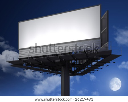Big empty billboard ready for your image or text - stock photo
