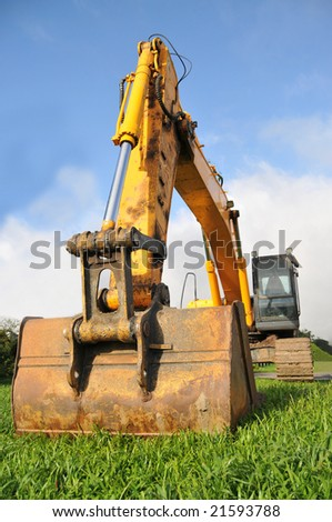 Big Excavator - stock photo