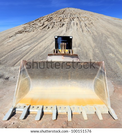 Big excavator in the mine. Environmental concept. - stock photo