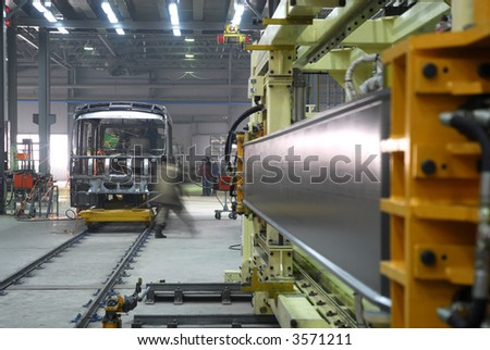 Big factory with a lot of machine tools. 11