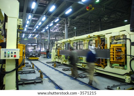 Big factory with a lot of machine tools.8 - stock photo