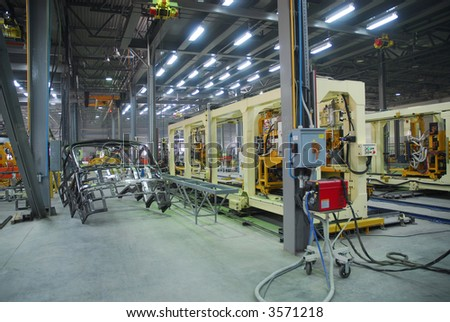 Big factory with a lot of machine tools. 15 - stock photo
