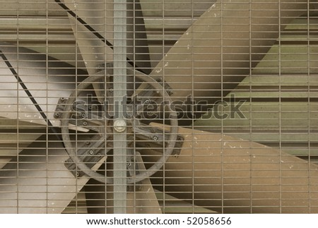 Big fan in the factory - stock photo