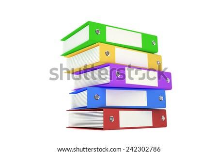 Big folder colored - stock photo