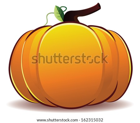 Cartoon pumpkin stock images royalty free images vectors big fresh orange pumpkin illustration on white background thecheapjerseys Choice Image