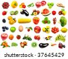 big fruits and vegetables collection - stock photo