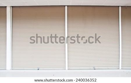 Big garage in shop - stock photo