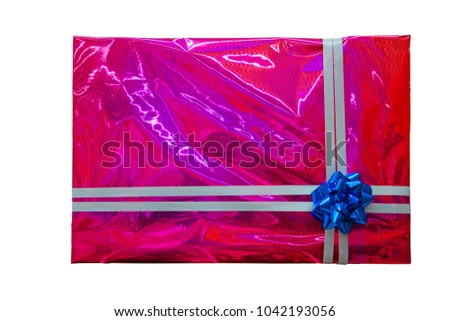 Big gift box isolated on a white background