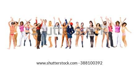 Big Group Success Concept  - stock photo