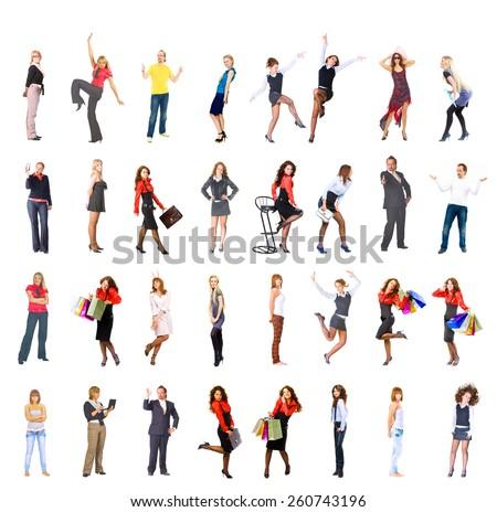 Big Group Workforce Concept  - stock photo