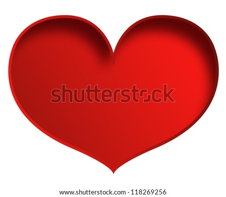 Big heart isolated on white