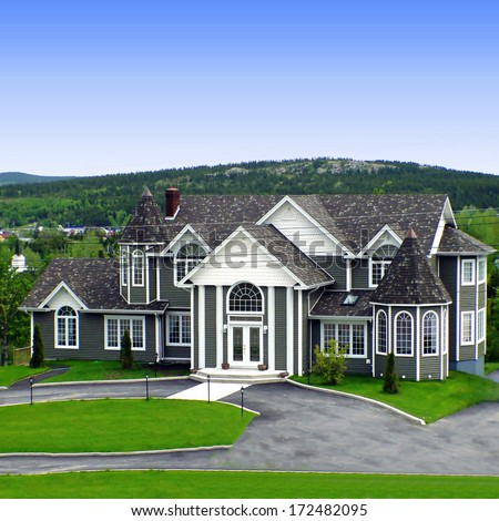 Big house rural newfoundland stock photo 172482095 for Home plans newfoundland