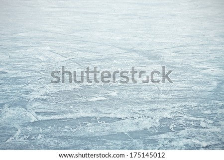 Big ice surface background - stock photo